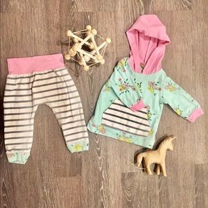 2 pc 6 month Floral Boutique outfit